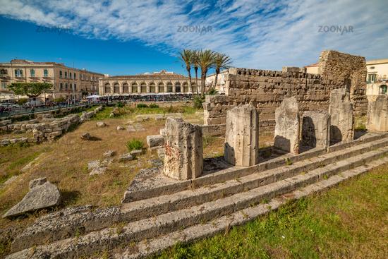 Temple of Apollo in Ortigia, Syracuse, Sicily