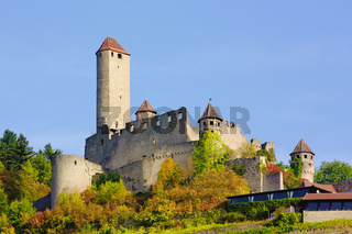 Burg Hornberg on Neckar river,Baden-Wurttemberg,Germany