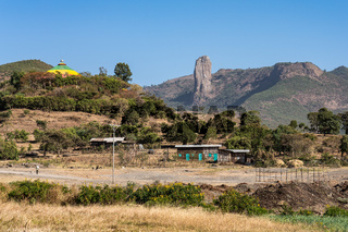 Landscape view on the road from Gondar to the Simien mountains, Ethiopia