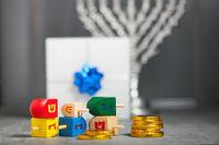 The Religious symbols of Jewish holiday Hanukkah