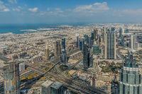 Burj Khalifa, view visitor platform, 452,2m, Dubai