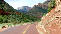 On the way on the Zion Mt. Carmel Highway