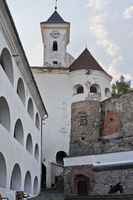 Mukachevo castle Palanok 14th century in Ukraine