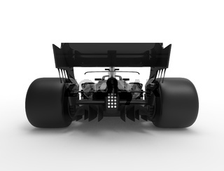 3D rendering illustration with of an modern all black race sport car.