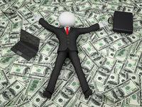 businessman on the dollar