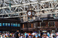 Glasgow Central, public concourse at Glasgow Central Station in Glasgow, UK