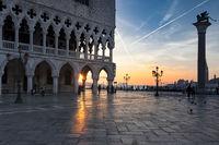 Venice to the sunrise