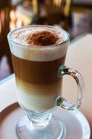 irish coffee cup on a table