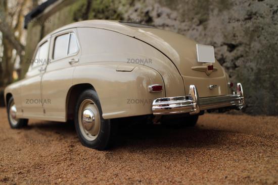 retro car back view
