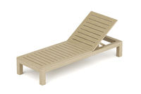 Wooden beach lounger