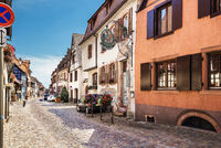 Beautiful small town Bergheim with half-timbered houses