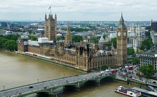 Aussicht auf den 'Palace of Westminster' - London