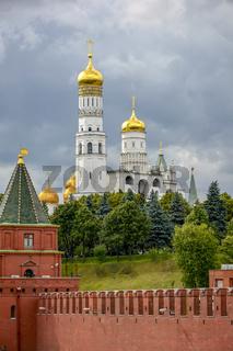 Walls, church and gardens of the Kremlin