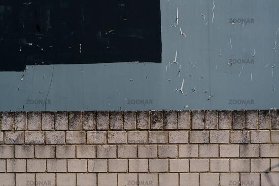 Gray billboard and wall edge