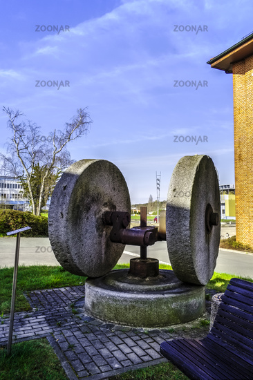 Historic grindstones, Hermsdorf, Thuringia, Germany