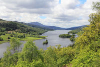 Panorama at the Loch Tummel in Scotland