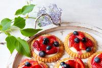 Strawberry & blueberry tarts