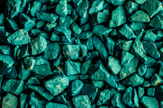Emerald green stone pebbles as abstract background texture, landscape architecture backdrop, interior design and textured pattern for luxury brand design
