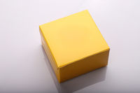 Yellow Blank Paper Box for Food - Burger or Product Packaging Mockup Template