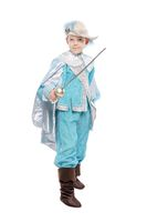 Beautiful boy in a musketeer costume