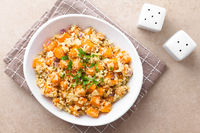 Roasted Pumpkin, Cauliflower and Red Onion Salad