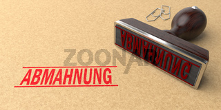 Stamp Abmahnung