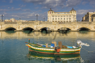 Umbertino Bridge Ortygia Island, Syracuse, Sicily, Italy