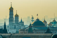 Moscow Kremlin Senate building with the President of the Russian Federation Standard