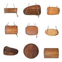 Set alte Holzschilder mit Seilen Strick