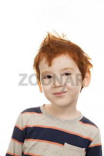 smiling redhead boy