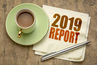2019 report word abstract on napkin