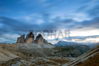 Tre Cime di Lavaredo ' Drei Zinnen ' in Dolomite Alps