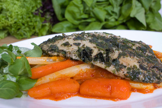 Kräuterfisch mit Gemüse