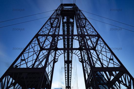 Bizkaia Brücke zwischen Portugalete und Las Arenas (Getxo), Spanien