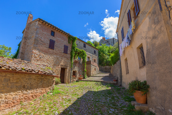 Street in old medieval Italy town