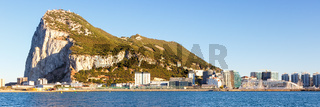 Gibraltar panorama landscape The Rock Mediterranean Sea