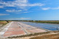 Ile de Re salt lake in landscape