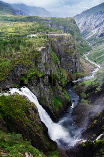 Voringsfossen waterfall. Norway.