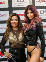 Patricia Blanco and Micaela Schäfer at the erotic fair Venus in Berlin 2019