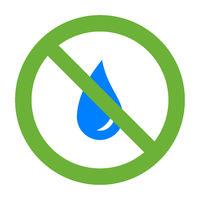 Wassertropfen und Verbotsschild - Water drop and prohibition sign