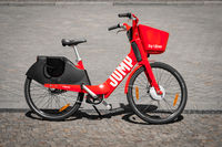 Electric Bike or  E-bike by JUMP , the bicycle service of UBER