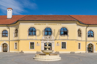 The 1 Decembrie 1918 University building in Alba Iulia, Romania