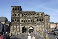 Landmark antic Roman town gate Porta Nigra