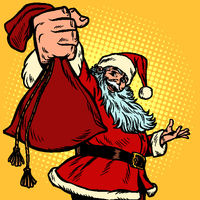 Santa Claus character gift bag, Christmas and New year