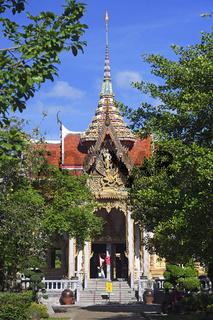 Gebäude des Wat Chalong, größter Tempel auf Phuket, Thailand
