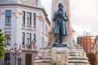 Abruzzo region, Italy, Vasto The Statue in Piazza Gabriele Rossetti square
