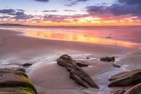 Summer sunrise at the beach