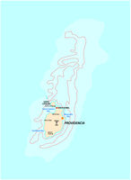 small outline map of the colombian caribbean islands Providencia and Santa Catalina