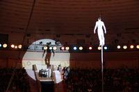 Gymnasts perform unimaginable tricks under dome of circus
