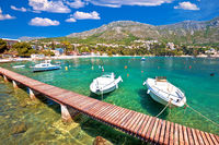 Srebreno coastline and waterfront view, tourist archipelago of Dubrovnik
